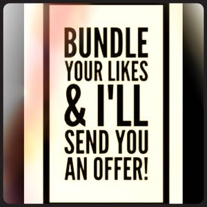 Bundle your likes for a private offer!